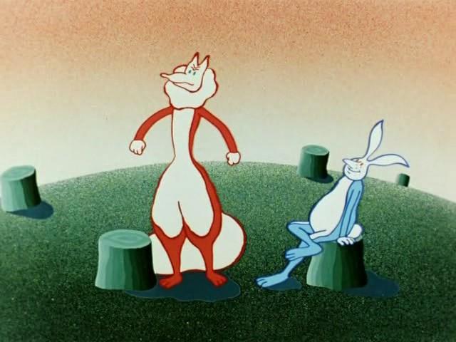 Как лиса зайца догоняла