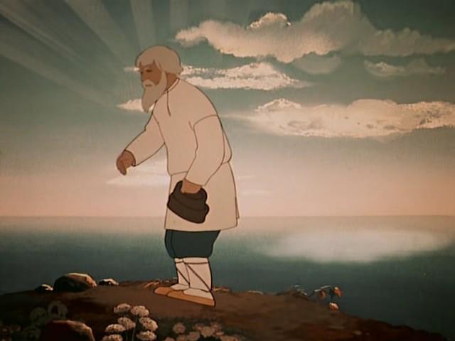 описание внешности старика сказка о рыбаке и рыбке